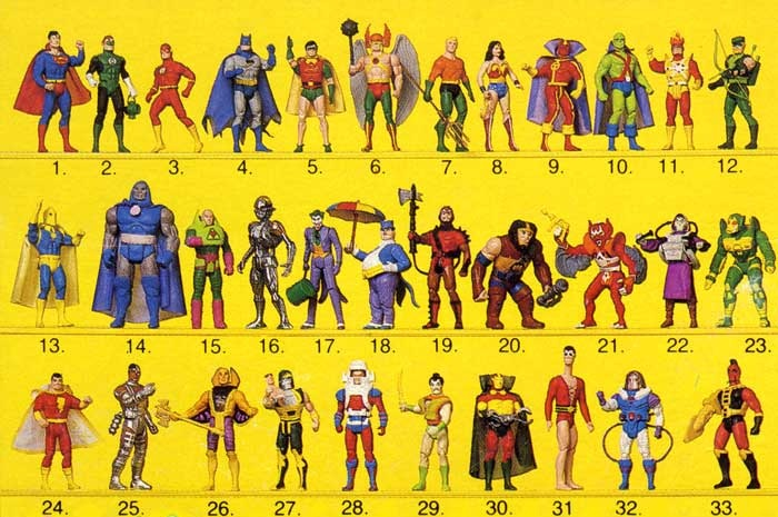 Kenner Super Powers Action Figure Lineup
