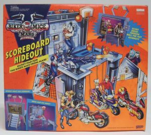 Galoob Biker Mice from Mars Scoreboard Hideout figure playset