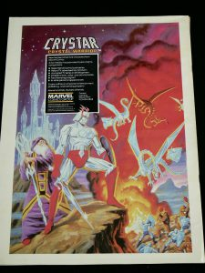 Marvel Remco Crystar Action Figures Advertisement in industry Magazine