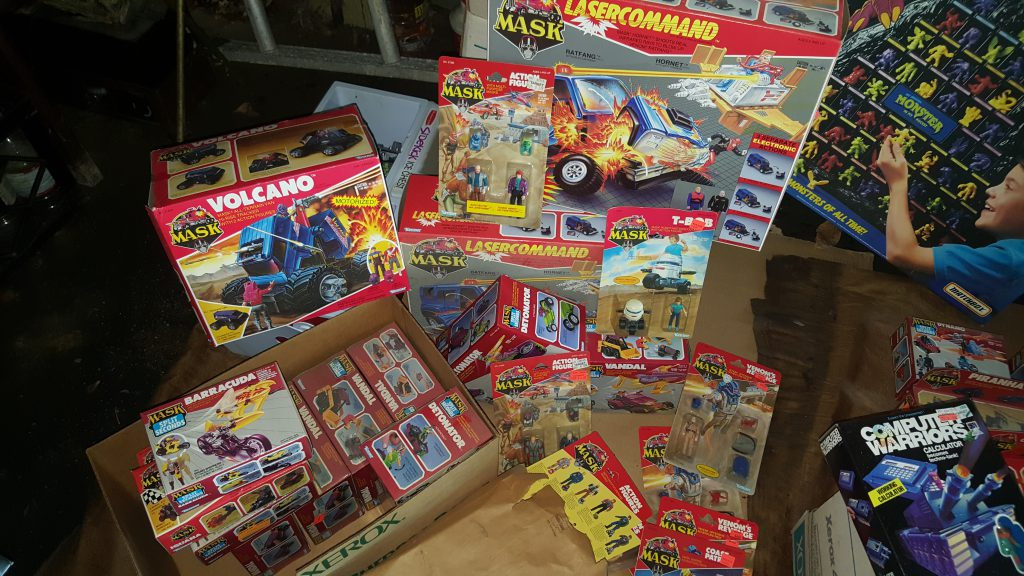 Huge lot of Kenner Mask action figures and vehicles