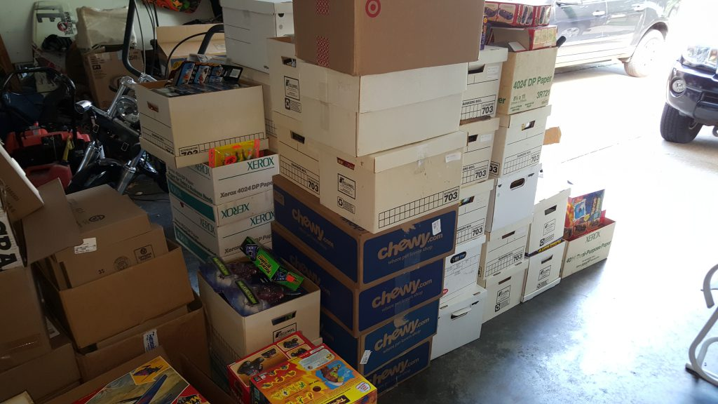Piles of Boxes of Vintage Kenner and Tyco Toys